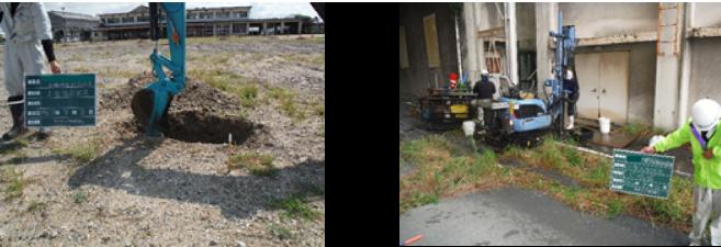 土壌環境調査の様子
